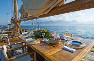 Pranzo in barca lago di Garda