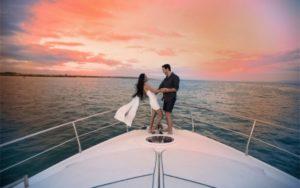 Proposta di matrimonio in barca lago di Garda